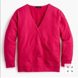 J crew faux wrap sweatshirt